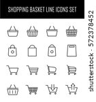set of shopping cart icons in... | Shutterstock .eps vector #572378452