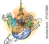 stylized illustration of travel ...   Shutterstock .eps vector #57237880