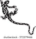 maori lizard design. can be use ... | Shutterstock .eps vector #572379466