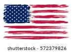 grunge american flag.vector... | Shutterstock .eps vector #572379826