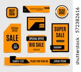 blue sale banners collection.... | Shutterstock .eps vector #572382616