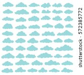 cloud icon set design clean... | Shutterstock .eps vector #572385772
