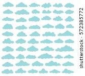 cloud icon set design clean... | Shutterstock .eps vector #572385772