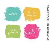 vector grunge elements for... | Shutterstock .eps vector #572385988