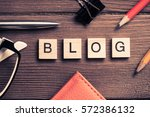 workspace desk with keyboard... | Shutterstock . vector #572386132
