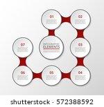 infographics template. metaball ... | Shutterstock .eps vector #572388592