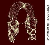 eps fashion beautiful woman...   Shutterstock .eps vector #572393026