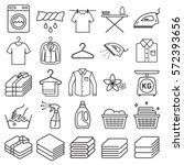 laundry service icons. vector...