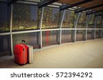 traveling luggage at airport... | Shutterstock . vector #572394292