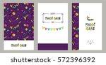 carnival invitation cards in... | Shutterstock .eps vector #572396392