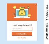 subscription web form | Shutterstock .eps vector #572398162