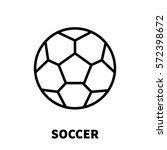 soccer icon or logo in modern...