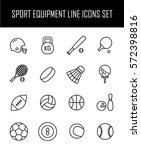 set of sport equipment icons in ... | Shutterstock .eps vector #572398816