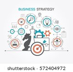 business strategy. infographic... | Shutterstock .eps vector #572404972