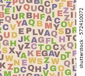 seamless pattern with letters.... | Shutterstock .eps vector #572410072
