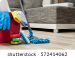 cleaning service. bucket with... | Shutterstock . vector #572414062