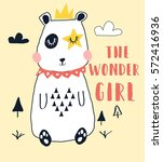 the wonder girl bear  for t... | Shutterstock .eps vector #572416936