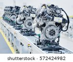 new manufactured engines on... | Shutterstock . vector #572424982