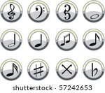 vector music signs | Shutterstock .eps vector #57242653