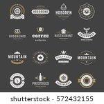 vintage logos design templates... | Shutterstock .eps vector #572432155
