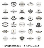 Stock vector vintage logos design templates set vector logotypes elements collection icons symbols retro 572432215