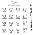 set of trophy icons in modern... | Shutterstock .eps vector #572432275