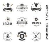 vintage logos design templates...   Shutterstock .eps vector #572432305
