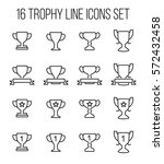 set of trophy icons in modern... | Shutterstock .eps vector #572432458