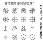 set of target icons in modern... | Shutterstock .eps vector #572432515