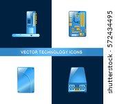 set of 4 hardware icons ...