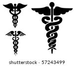 set of medical caduceus | Shutterstock .eps vector #57243499