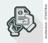 mail with a bank document | Shutterstock .eps vector #572437816