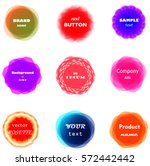 abstract set of vivid and... | Shutterstock .eps vector #572442442