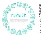 aromatherapy and essential oils ... | Shutterstock .eps vector #572444632