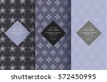vector set of design elements... | Shutterstock .eps vector #572450995