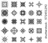 set of different tribal... | Shutterstock . vector #572451292