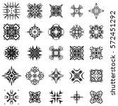 set of different tribal... | Shutterstock . vector #572451292