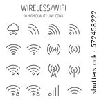 set of wireless icons in modern ... | Shutterstock .eps vector #572458222