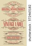 vintage typographic labels... | Shutterstock .eps vector #572465182