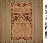 vector vintage items  label art ... | Shutterstock .eps vector #572466406