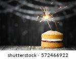 mini birthday cake with... | Shutterstock . vector #572466922
