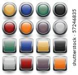 glossy buttons set. vector... | Shutterstock .eps vector #57246835