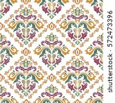 seamless classic vector colored ... | Shutterstock .eps vector #572473396