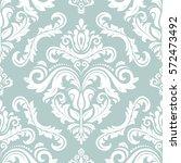 seamless classic vector white...   Shutterstock .eps vector #572473492