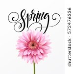 gerbera flower background and... | Shutterstock .eps vector #572476336