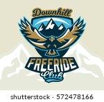logo  emblem of an eagle flying.... | Shutterstock .eps vector #572478166