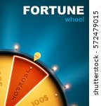 wheel of fortune 3d object... | Shutterstock .eps vector #572479015