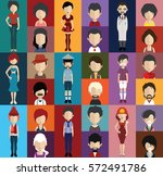 people avatar   with full body... | Shutterstock .eps vector #572491786