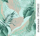 vector  seamless  tropical ... | Shutterstock .eps vector #572498122