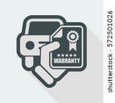car warranty icon | Shutterstock .eps vector #572501026